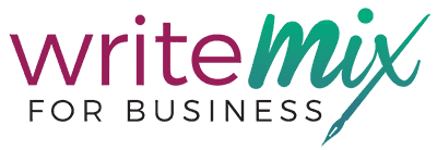 Write Mix for Business Logo saying write mix for business