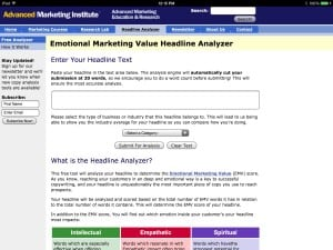 Emotional Value Image for Headline post by Sue-Ann Bubacz for writemixforbusiness.com