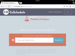 "Headline Analyzer Graphic by CoSchedule for writemixforbusiness ""Lucky 7 Headlines"" blog post"