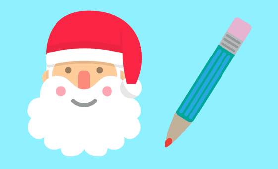 Santa's Making His List, Are You graphic for title on post for writemixforbusiness.com by Sue-ANn Bubacz