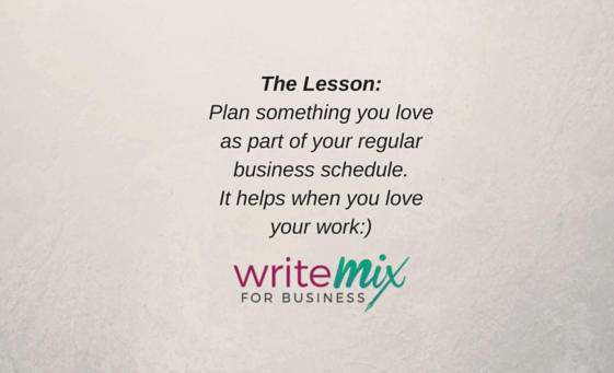 Blog Visual for Business Plan Something you love as part of your regular business schedule. by Sue-Ann Bubacz
