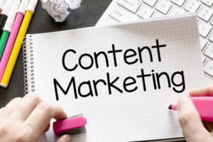 Feature Visual for Write Mix for Business article by Sue-Ann Bubacz called What Content Marketing is NOT