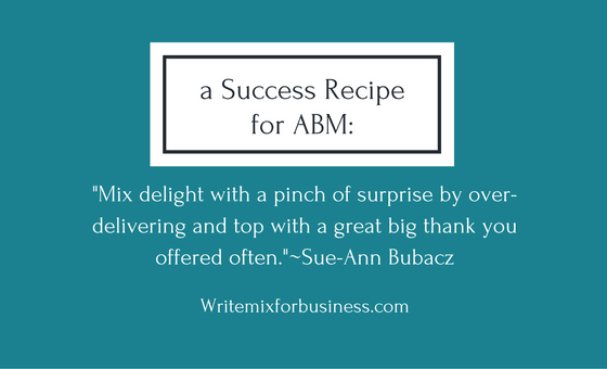Success Recipe for ABM by Sue-Ann Bubacz visual