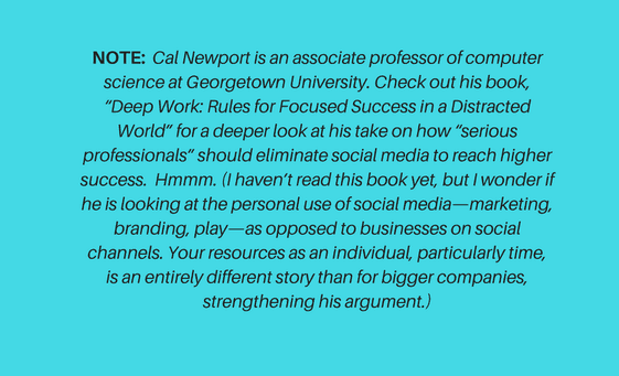"Note on Cal Newport Book ""deep Work"" for article by Sue-Ann Bubacz on SMM"
