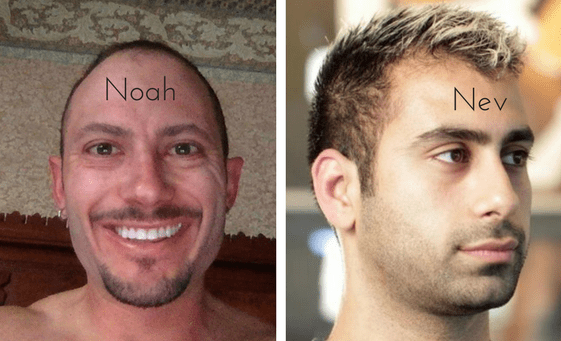 Noah Kagan and Neville Medhora for WriteMixforBusiness post by Sue-Ann Bubacz