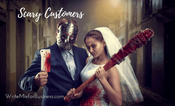 Halloween Scary Customers by Sue-Ann for Write Mix for Business Customer Service Article