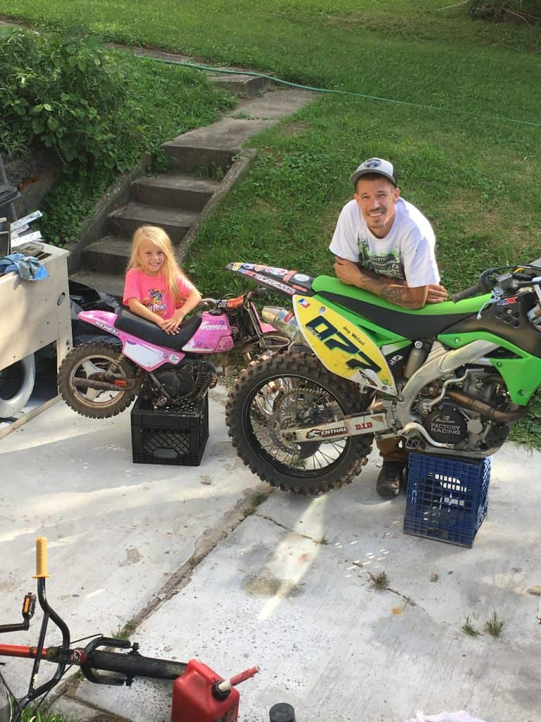 Ryder and Jay Wetzel, daughter and dad race team, #770 and #077!