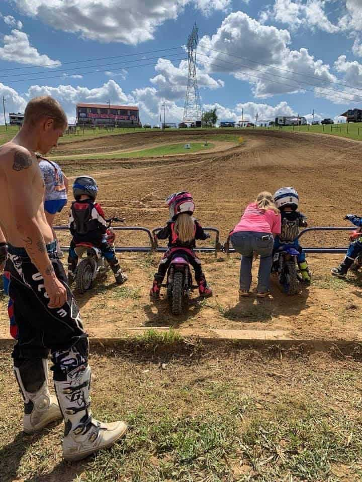 Ryder Wetzel first Start Gate for 50cc race at High Point Pro National Racetrack!! Goo Ryder...third place finish for day:)