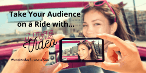 Go LIVE and Take Your Audience on a Ride with You Title Visual