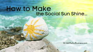 Find Strategic Social Savvy for Social Media Marketing, Title Visual with the text: How to Make the Social Sun Shine.
